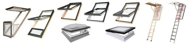 Fakro Sortiment - Dachfenster, Flachdachfenster, Schwingfenster, Klapp- Schwingfenster, Bodentreppen