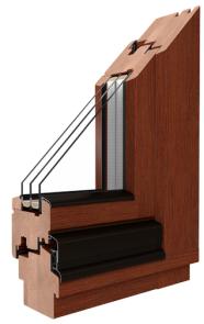 Drutex - Softline 68 - Holzfenster in Kiefer, Meranti und Lärchenholz