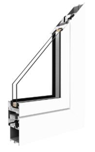 Aluprof - MB-45 Aluminiumfenster - 1 Kammer ohne Thermische Trennung