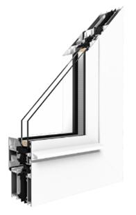 Aluprof - MB-70HI Aluminiumfenster -  3 Kammer mit thermischer Trennung