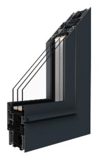 Aluprof - MB-86SI Aluminiumfenster - 3 Kammer mit thermischer Trennung