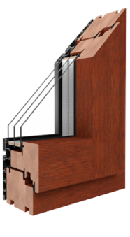 Drutex S.A. - Duoline Holzfenster mit Aluminiumverschalung außen