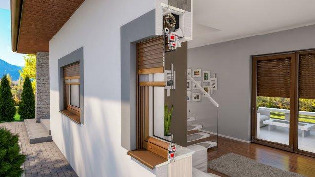 Iglo Energy Fenster mit Aufsatzrollladen und integriertem Insektenschutzgitter