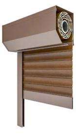 Drutex - Vorsatzrollladen 45Gr - Rollladen abgeschrägt - Aluminium