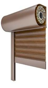 Drutex Vorsatzrollläden Rundkasten - Rollladenkasten Rund - Rolladen Rund - Aluminium