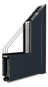 MB-86SI - Aluminium Haustür Profil mit thermischer Trennung - Passivhaus - Aluprof