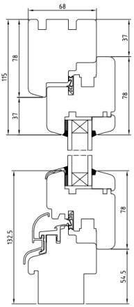 Holzfenster Softline 68 - Kiefer - Meranti - Hersteller Drutex