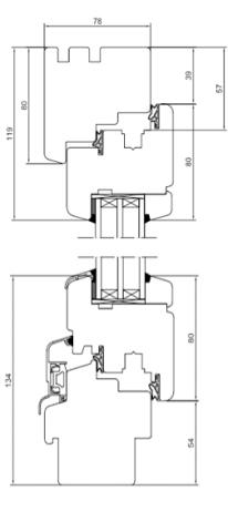Holzfenster Softline 78 - Kiefer - Meranti - Hersteller Drutex