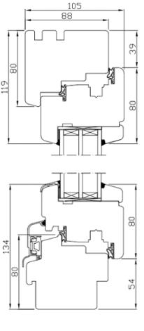 Holzfenster Softline 88 - Kiefer - Meranti - Hersteller Drutex